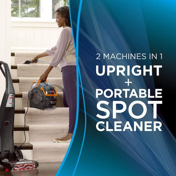 bissell proheat 2x lift off pet carpet cleaner portable