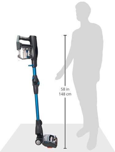 shark ionflex 2x vacuum cleaner height